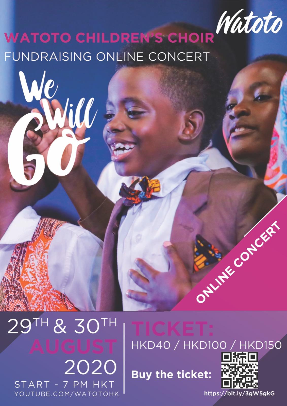Watoto Children's Choir Fundraising Online Concert 29 & 30 August 2020
